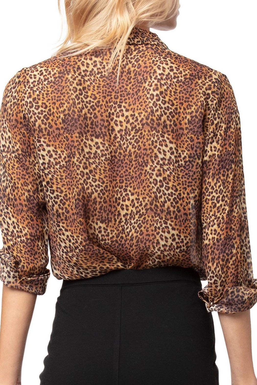 AS by DF Leopard Print Blouse - Front Full Image