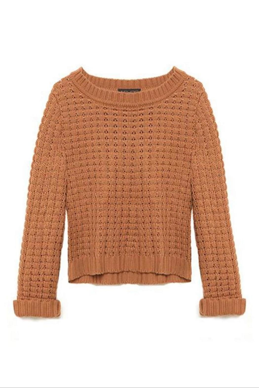 AS by DF Lucy Cropped Sweater - Side Cropped Image