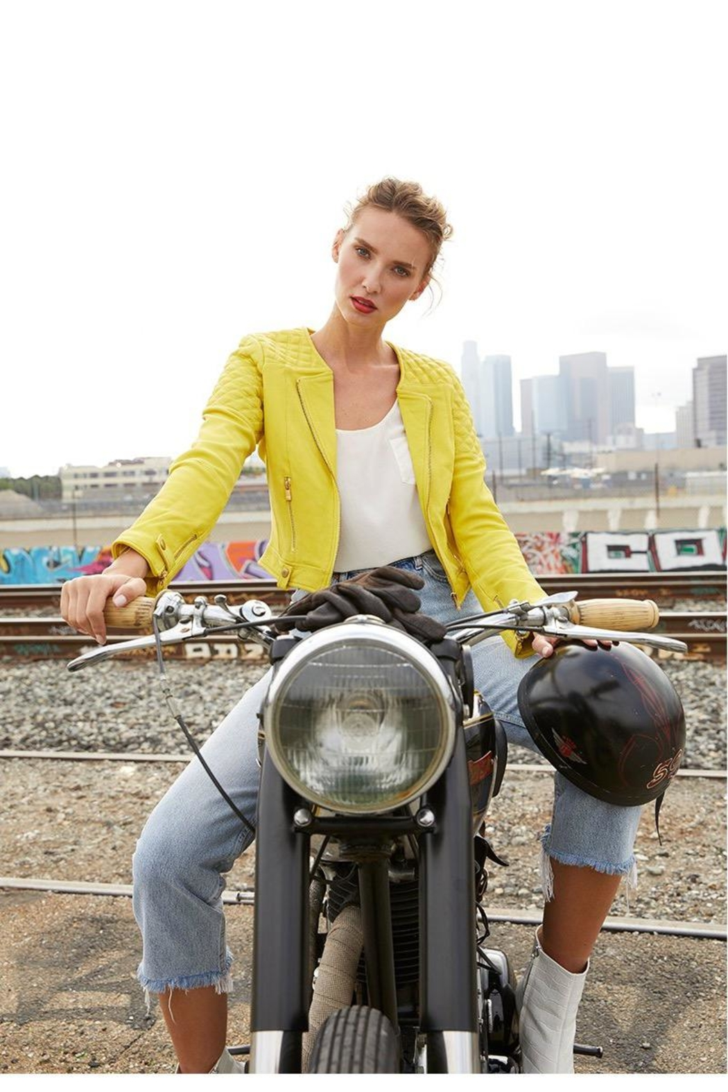 AS by DF Moto Leather Jacket - Front Cropped Image