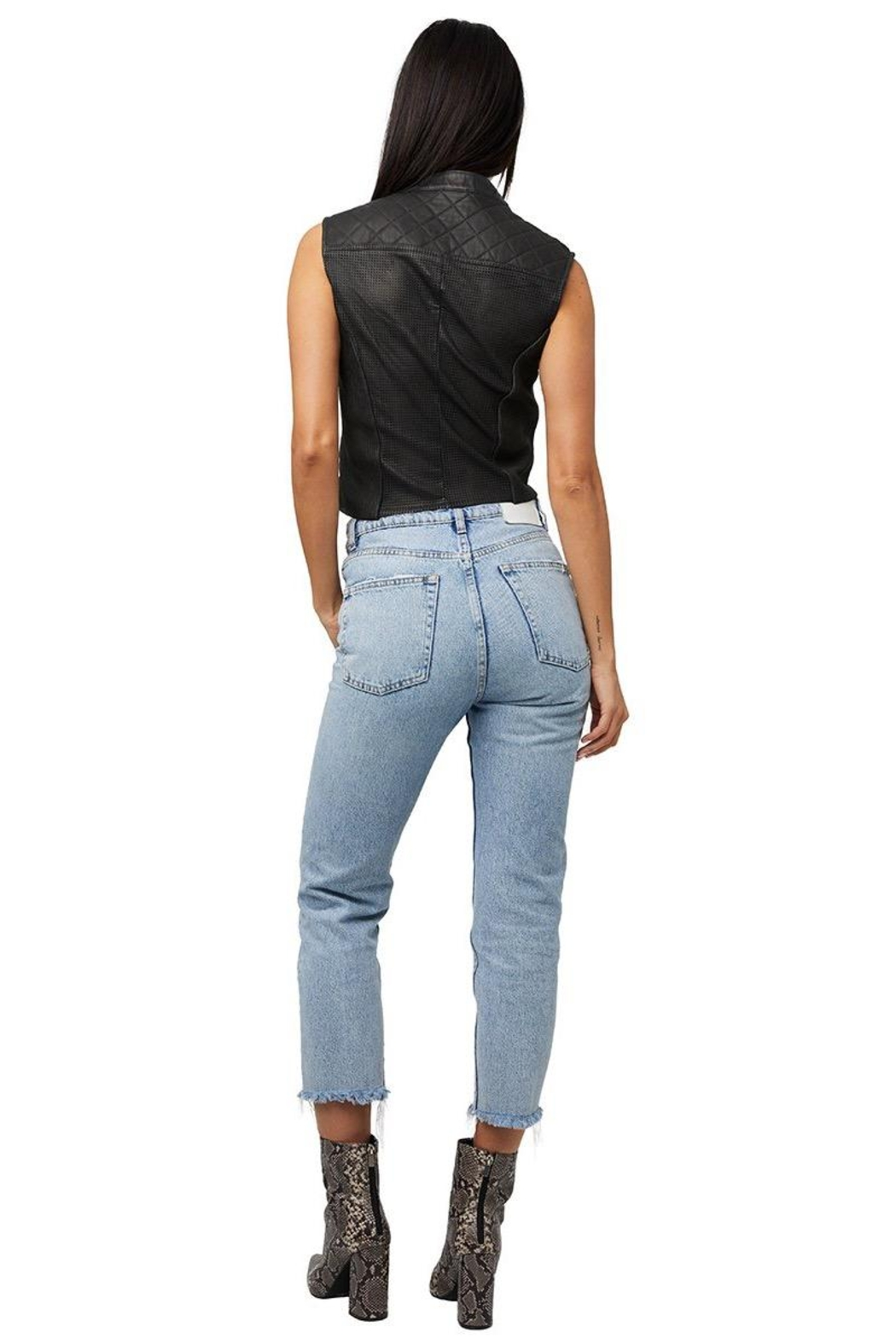 AS by DF Nicole Leather Vest - Side Cropped Image