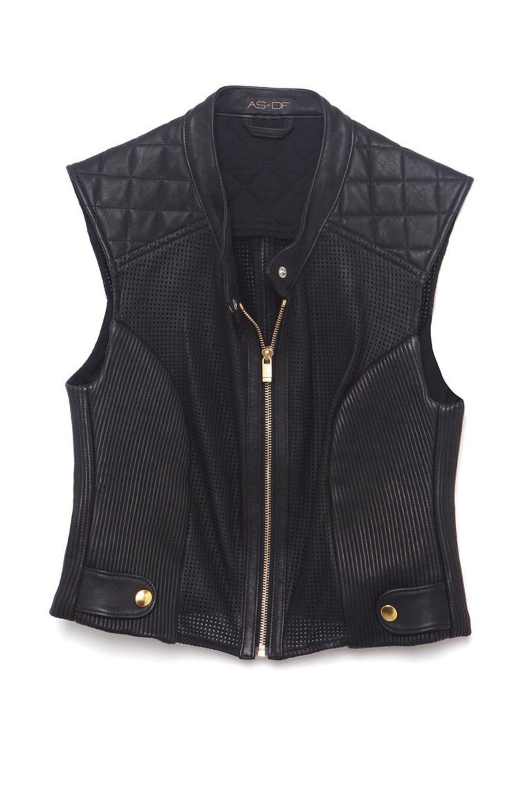 AS by DF Nicole Leather Vest - Back Cropped Image