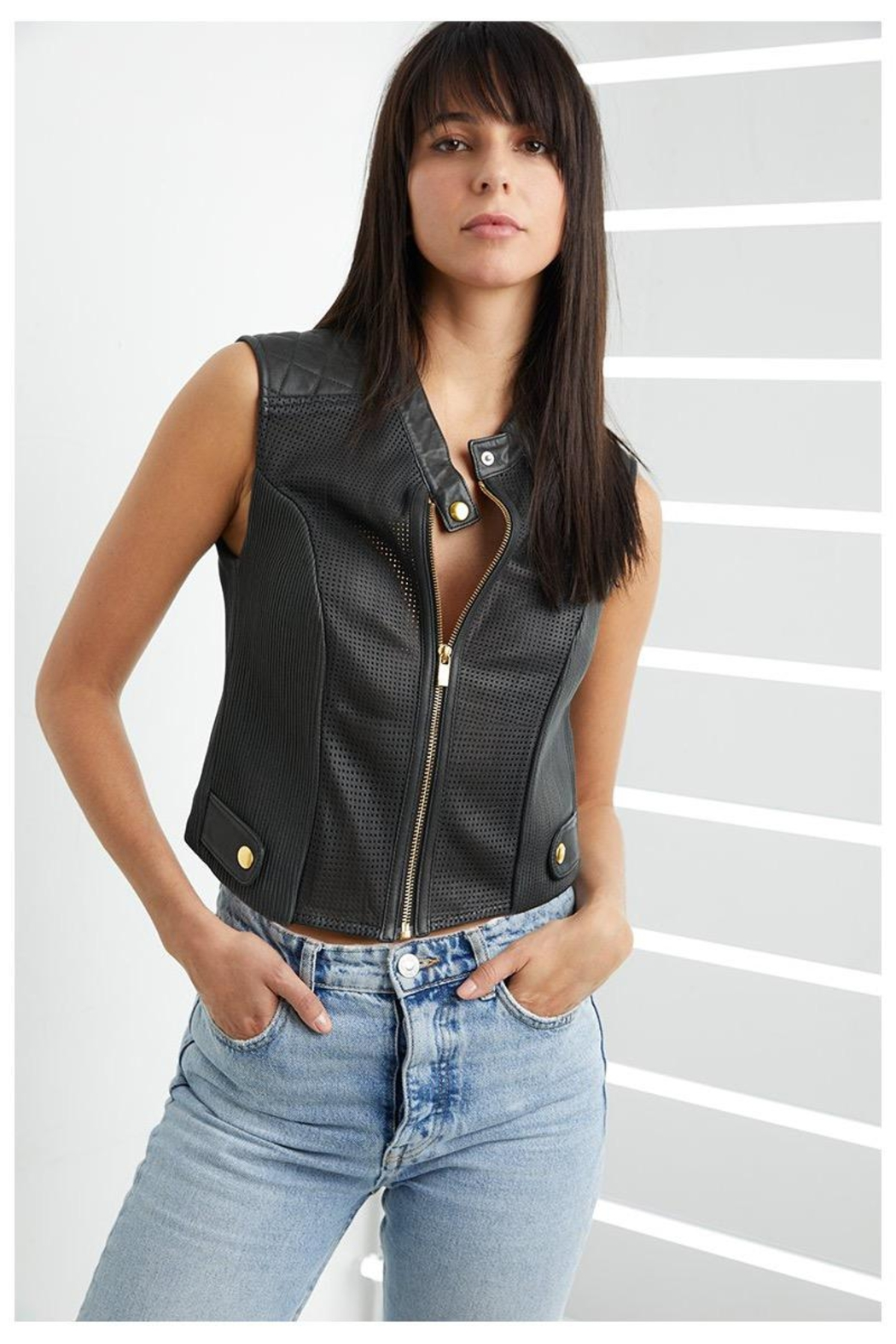 AS by DF Nicole Leather Vest - Main Image
