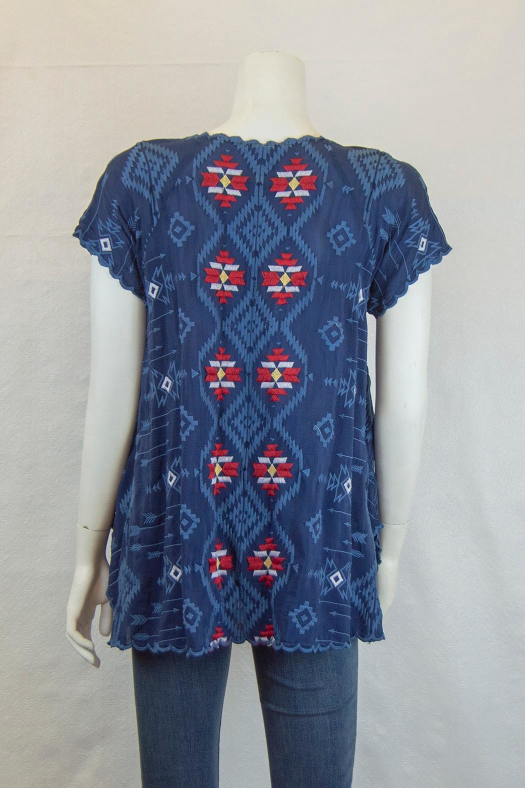 Johnny Was Collection Asher Raglan Tunic - Front Full Image