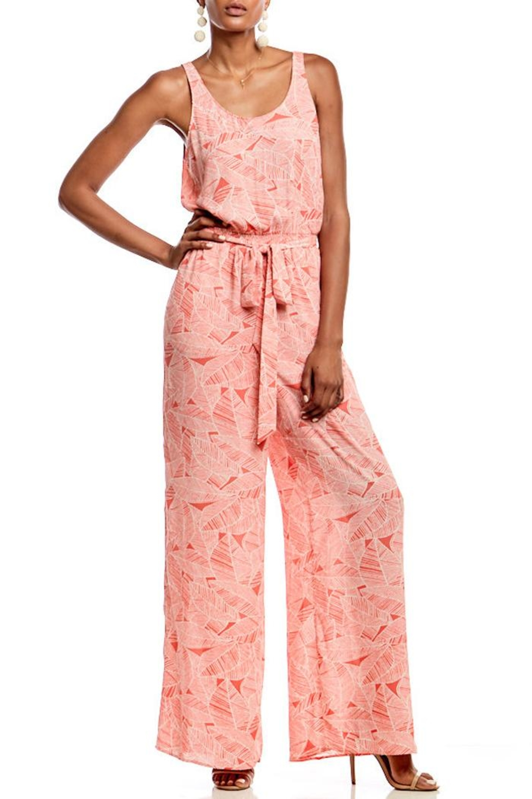 Asher by Fab'rik Benjamin Jumpsuit - Coral - Main Image