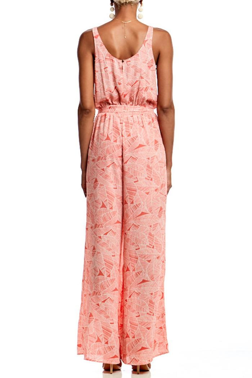 Asher by Fab'rik Benjamin Jumpsuit - Coral - Front Full Image