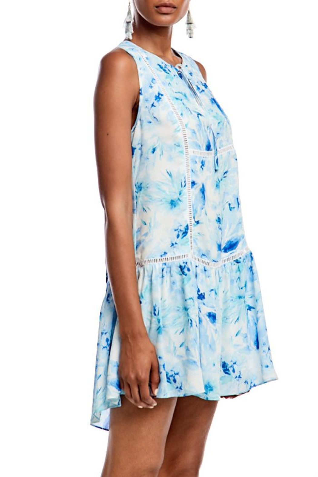Asher by Fab'rik Lincoln Dress Blue - Front Full Image