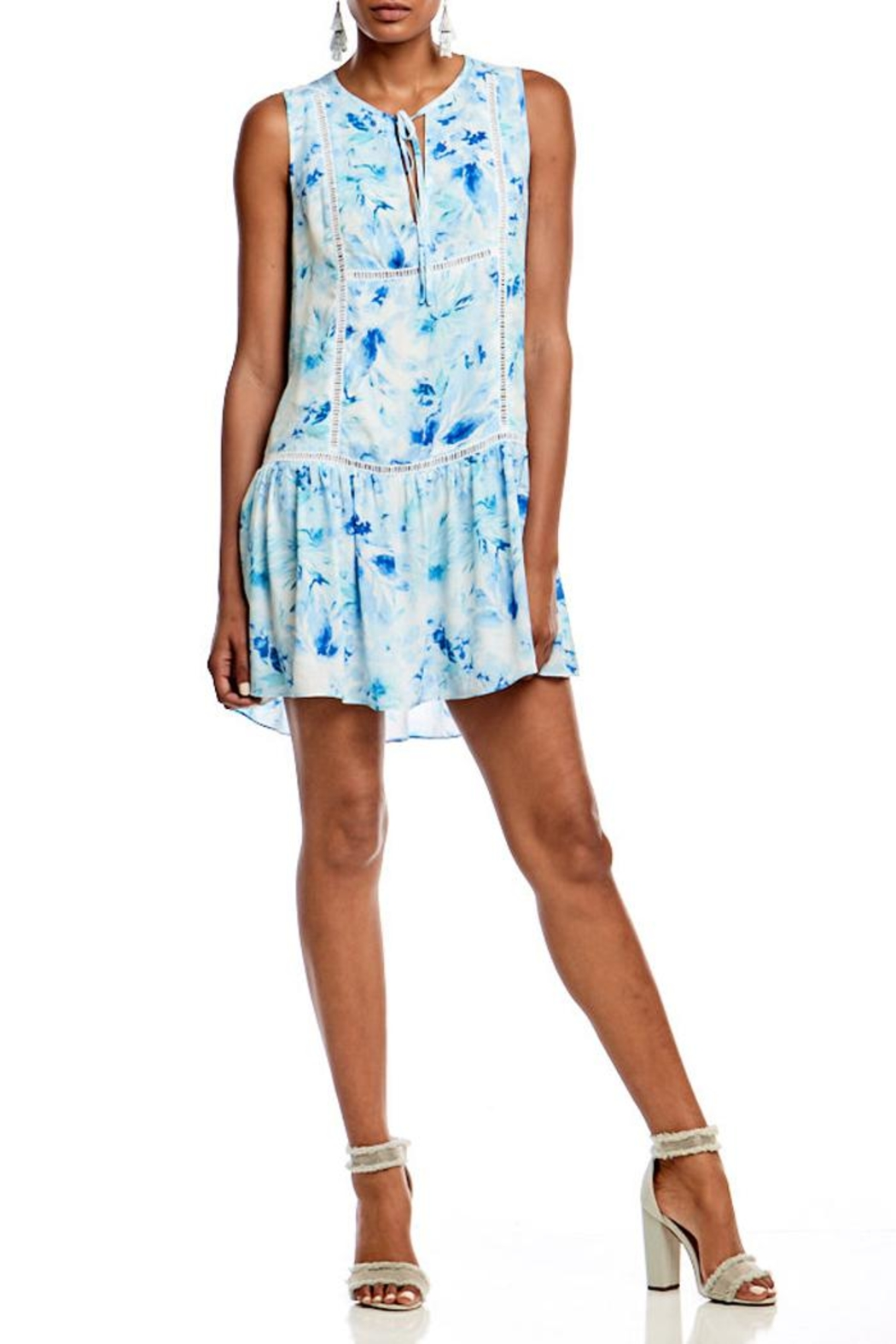 Asher by Fab'rik Lincoln Dress Blue - Back Cropped Image
