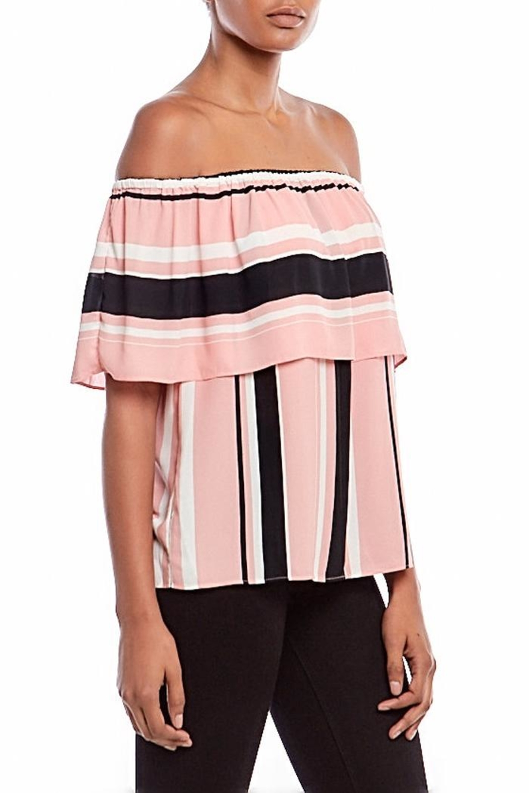 Asher by Fab'rik Wesley Top Pink - Side Cropped Image