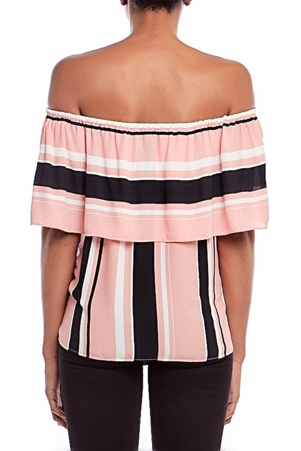 Asher by Fab'rik Wesley Top Pink - Back Cropped Image