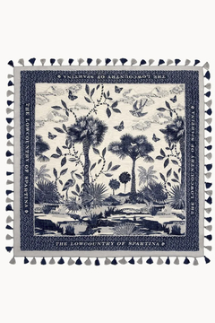 Spartina 449 Ashley River Landscape Square Scarf - Product List Image