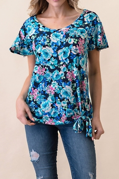 Ashley's Clothing Design Floral Knit Top - Product List Image