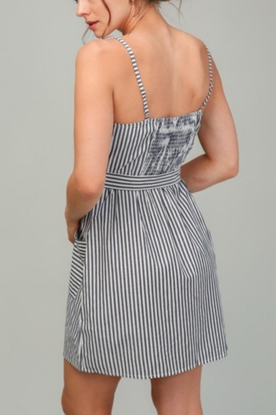 Timing Ashley Striped Dress - Front Full Image