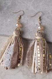 Southern Grace Ashlyn Rose Tassel Earrings - Product Mini Image