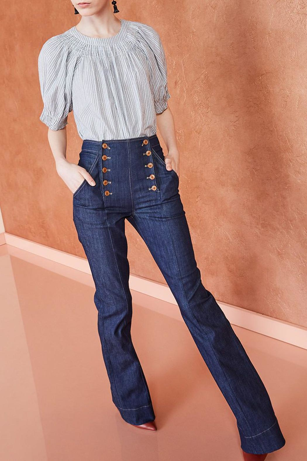 Ulla Johnson Ashton Indigo Jeans - Front Full Image