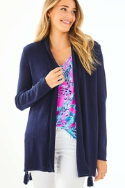 Lilly Pulitzer  Ashwood Cardigan, Navy - Front cropped