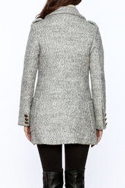 Asia Fashion  Grey Structured Peacoat - Back cropped