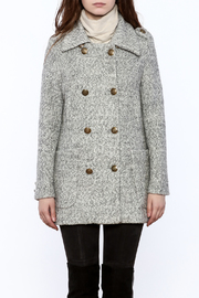 Asia Fashion  Grey Structured Peacoat - Side cropped