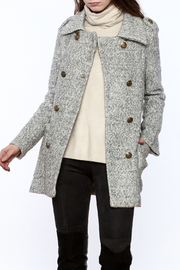 Asia Fashion  Grey Structured Peacoat - Product Mini Image