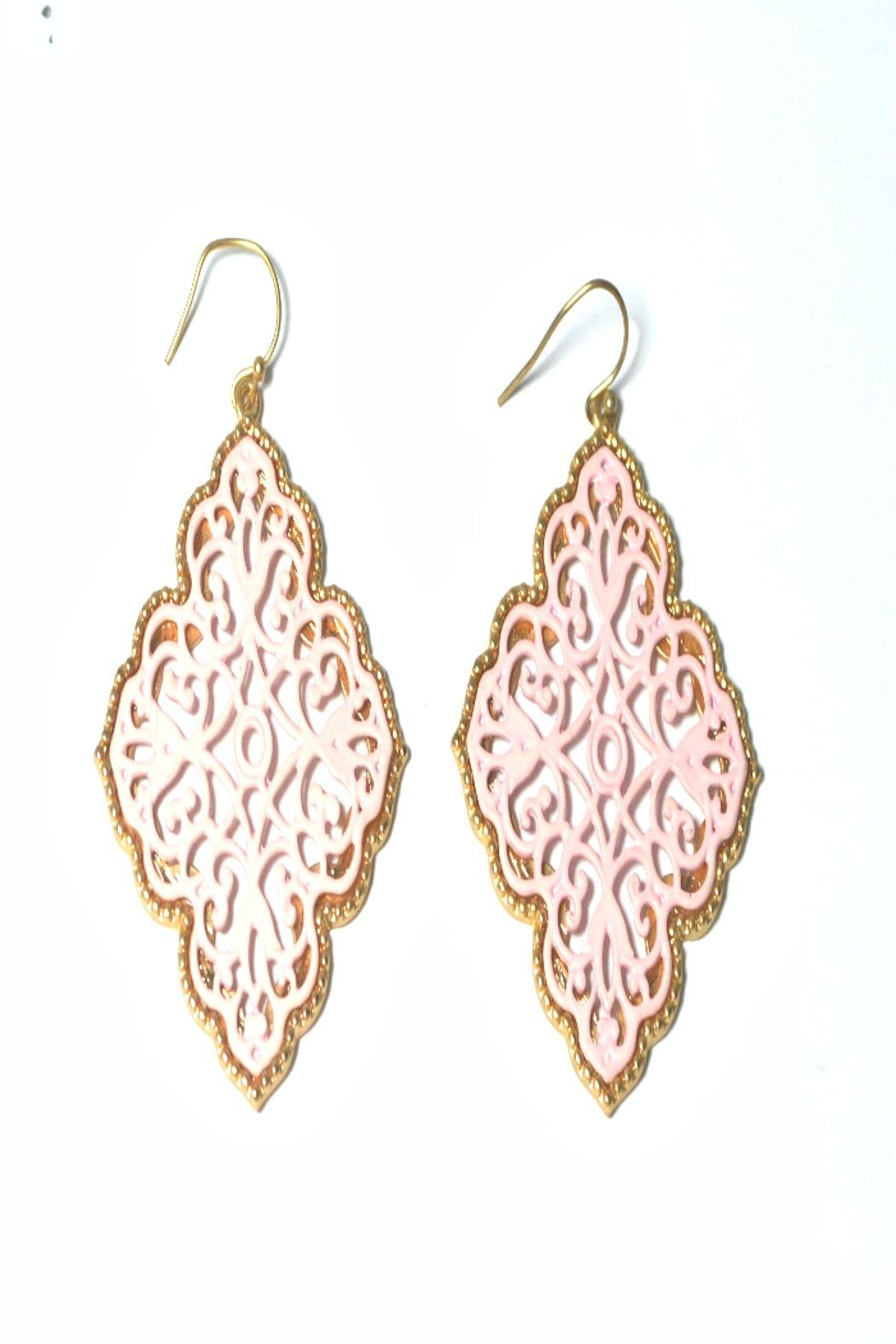 Asia Fashion  Moroccan-Inspired Earrings - Front Cropped Image