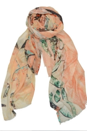 Asian Eye Earthy Abstract Scarf - Front cropped