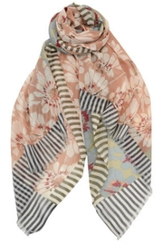 Asian Eye Floral Stripe Scarf - Product Mini Image