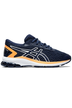 Asics Boys GT 1000 9 GS in Navy/Orange - Product List Image