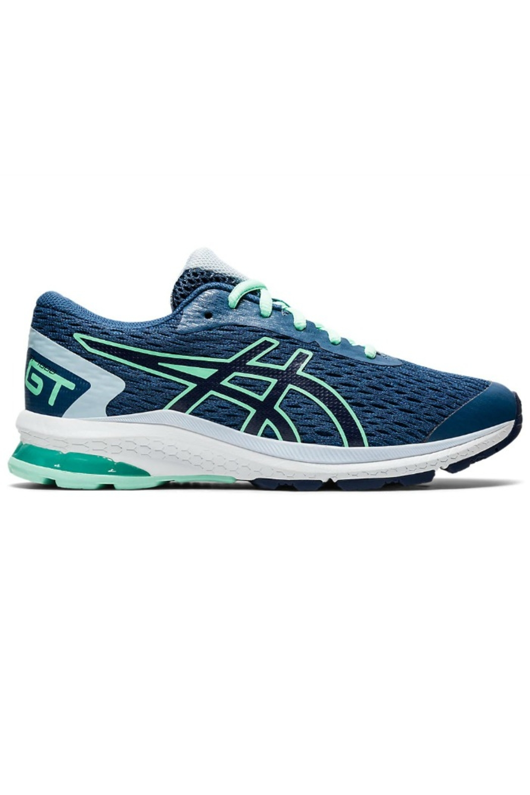 Asics Boys GT 1000 9 GS in Navy/Orange - Front Cropped Image