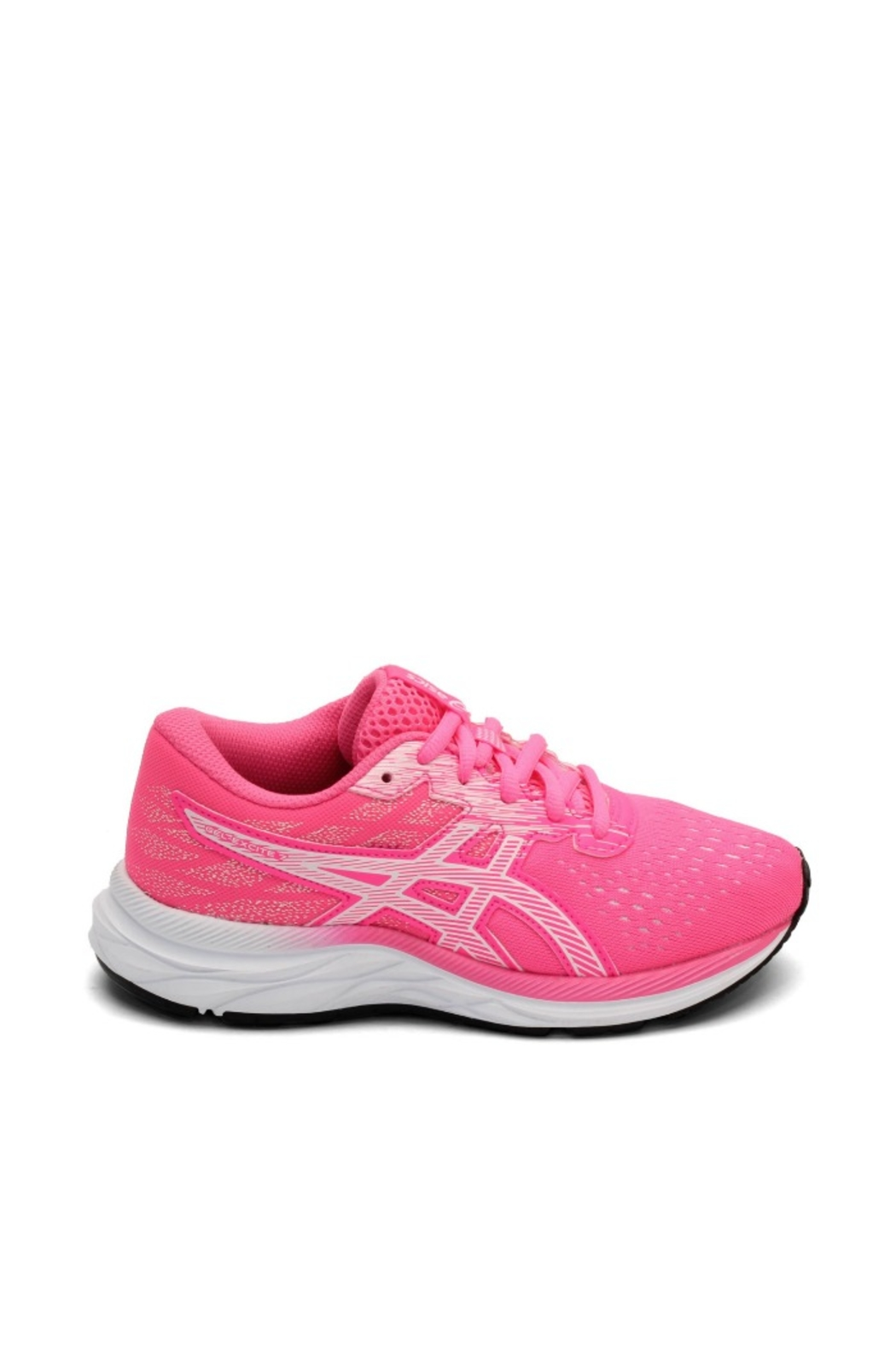 Asics Gel Excite 7 GS in Hot Pink/White - Front Full Image