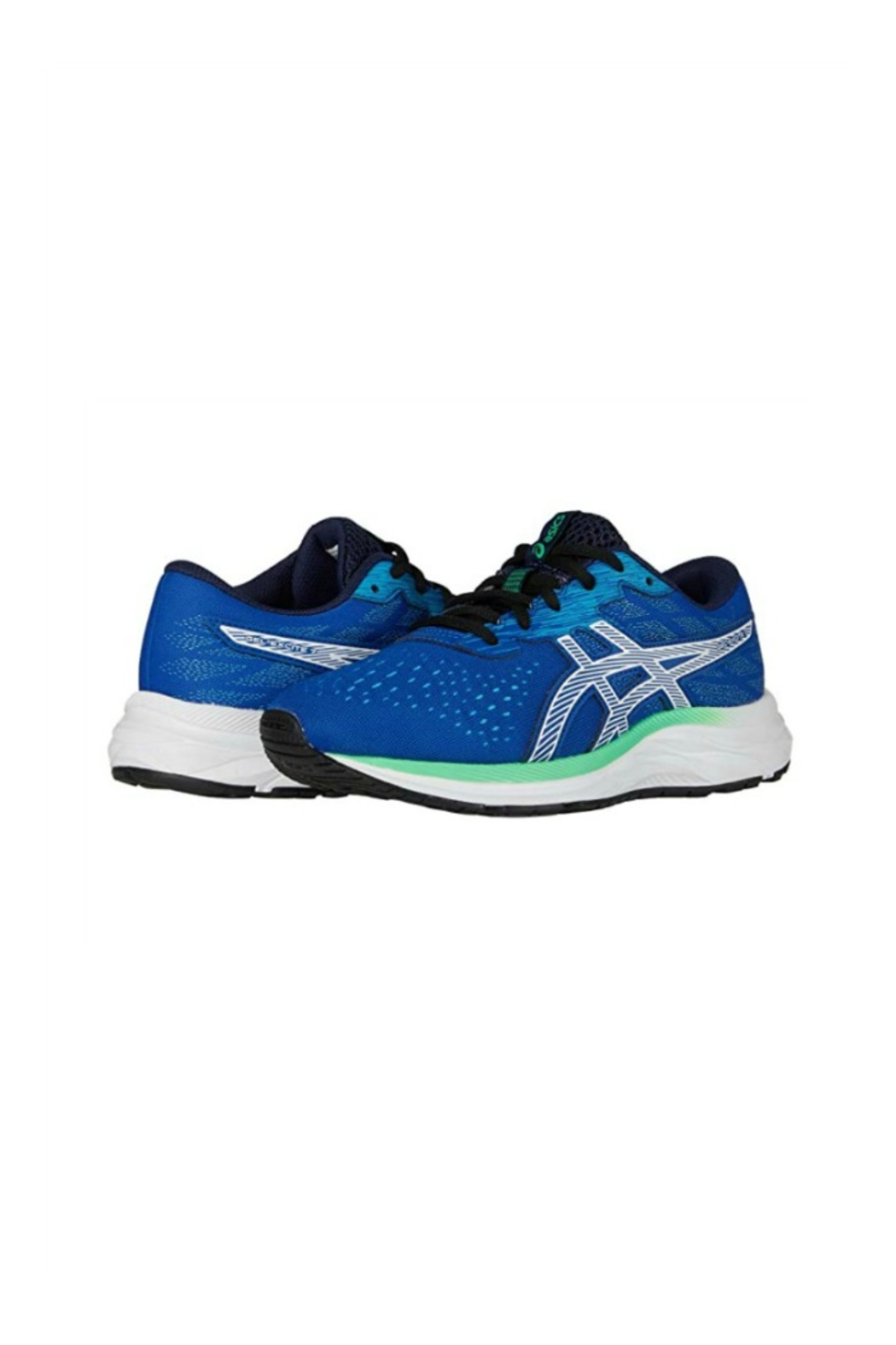 Asics Gel Excite 7 GS in  Blue/ White - Back Cropped Image