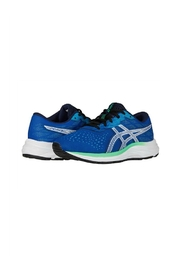 Asics Gel Excite 7 GS in  Blue/ White - Back cropped