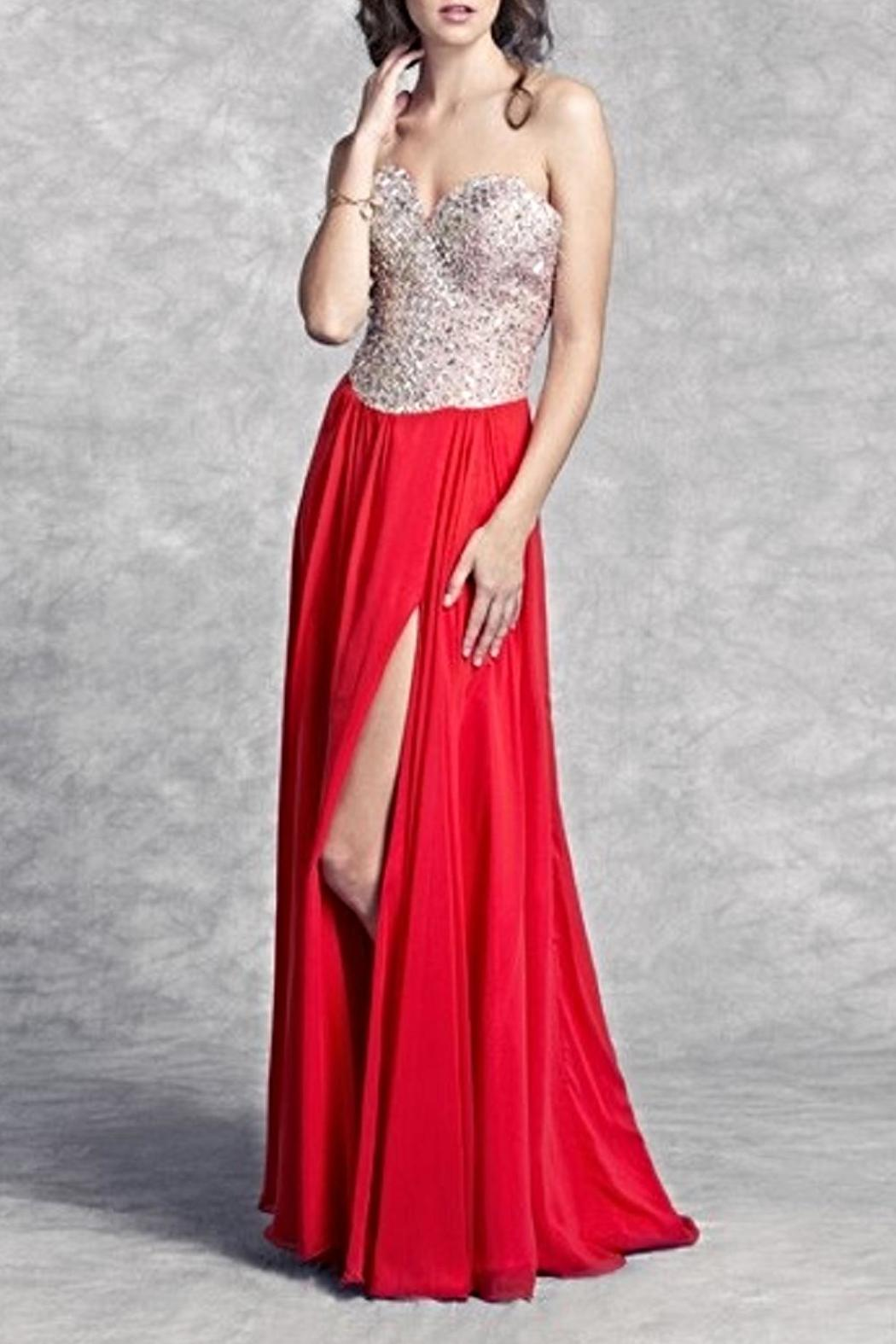 Aspeed Lattice Patterned Bodice Gown - Main Image