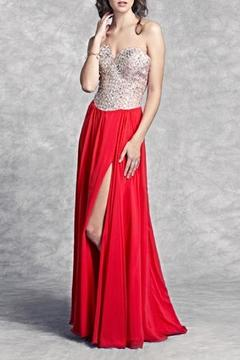 Aspeed Lattice Patterned Bodice Gown - Product List Image