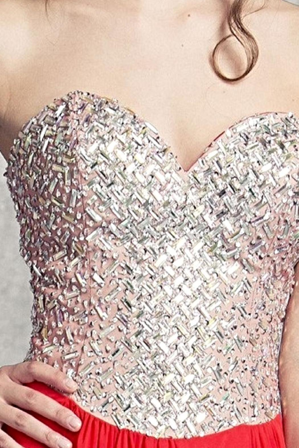 Aspeed Lattice Patterned Bodice Gown - Front Full Image