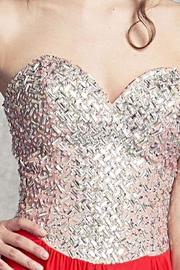 Aspeed Lattice Patterned Bodice Gown - Front full body