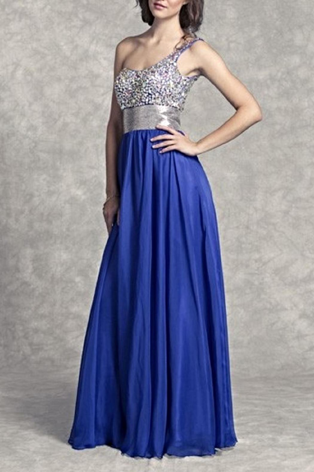 Aspeed One Shoulder Beaded Gown - Main Image