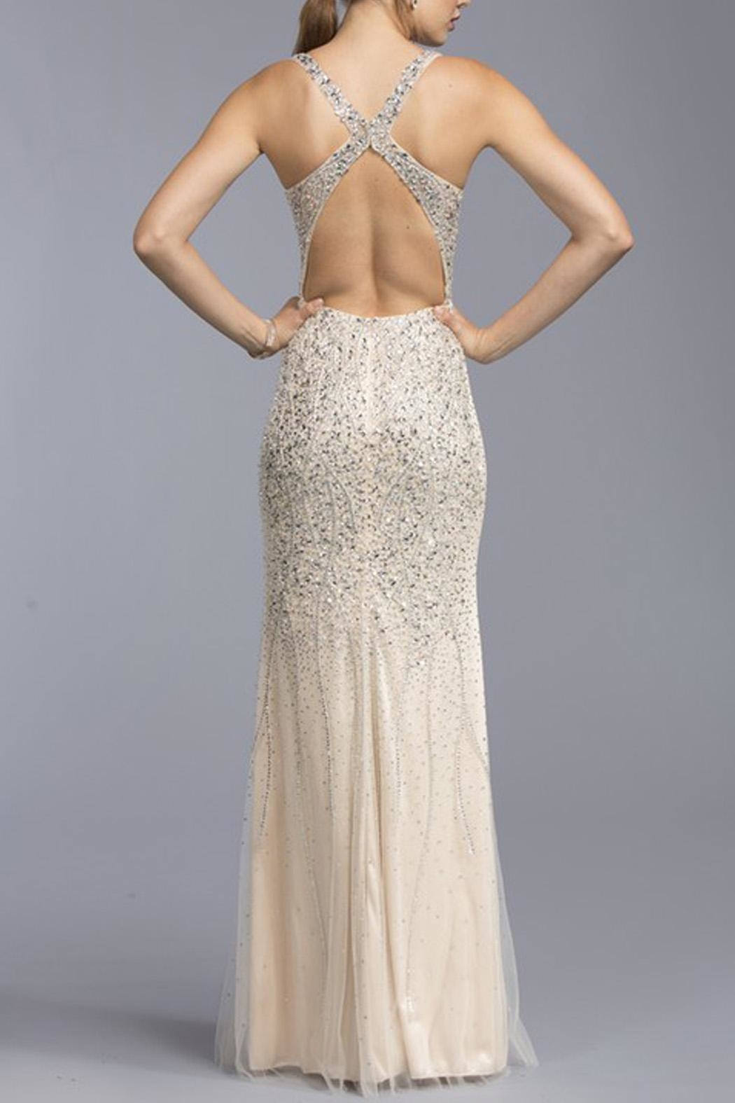 ASPEED DESIGN Crossback Sequin Promdress - Front Full Image