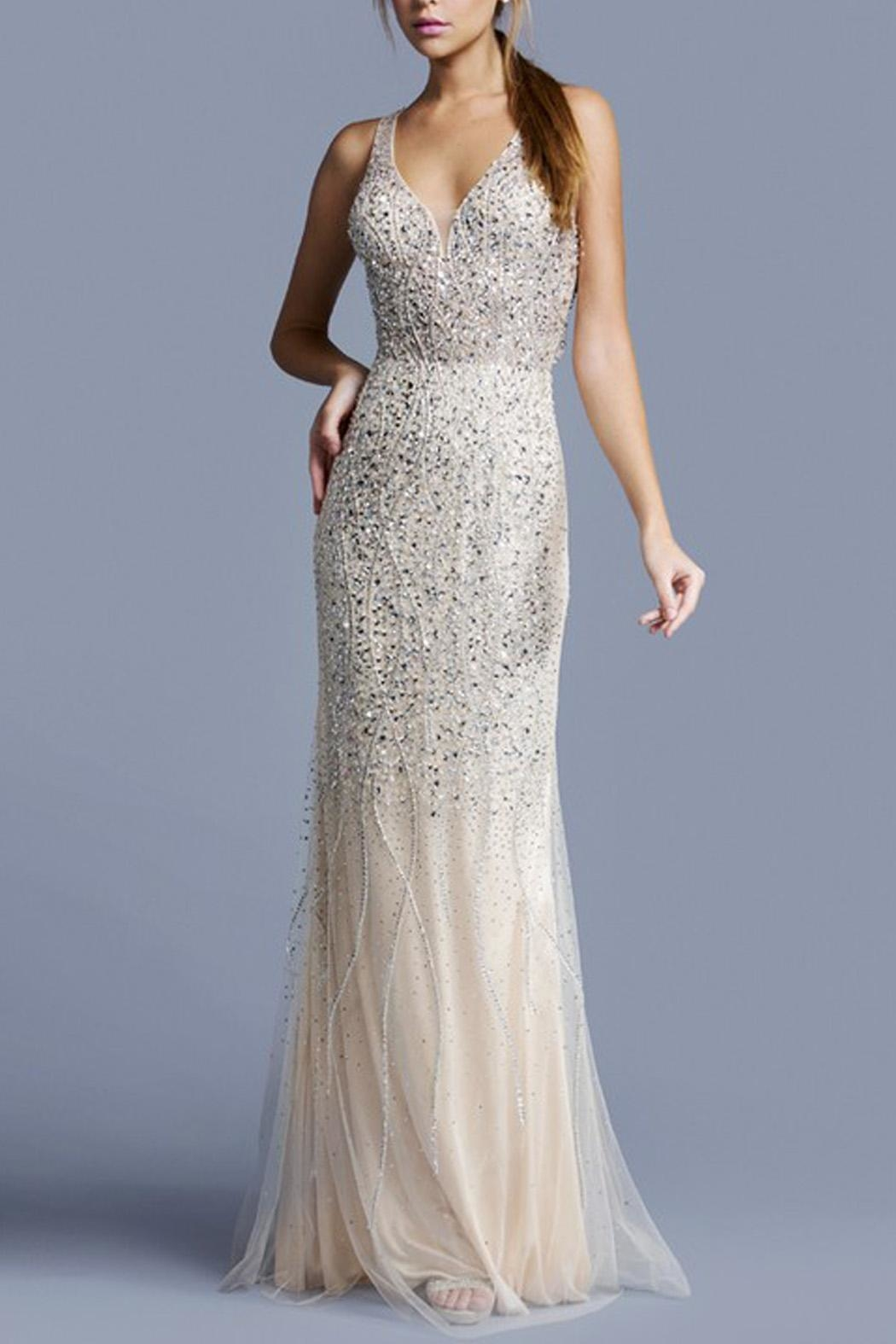 ASPEED DESIGN Crossback Sequin Promdress - Main Image