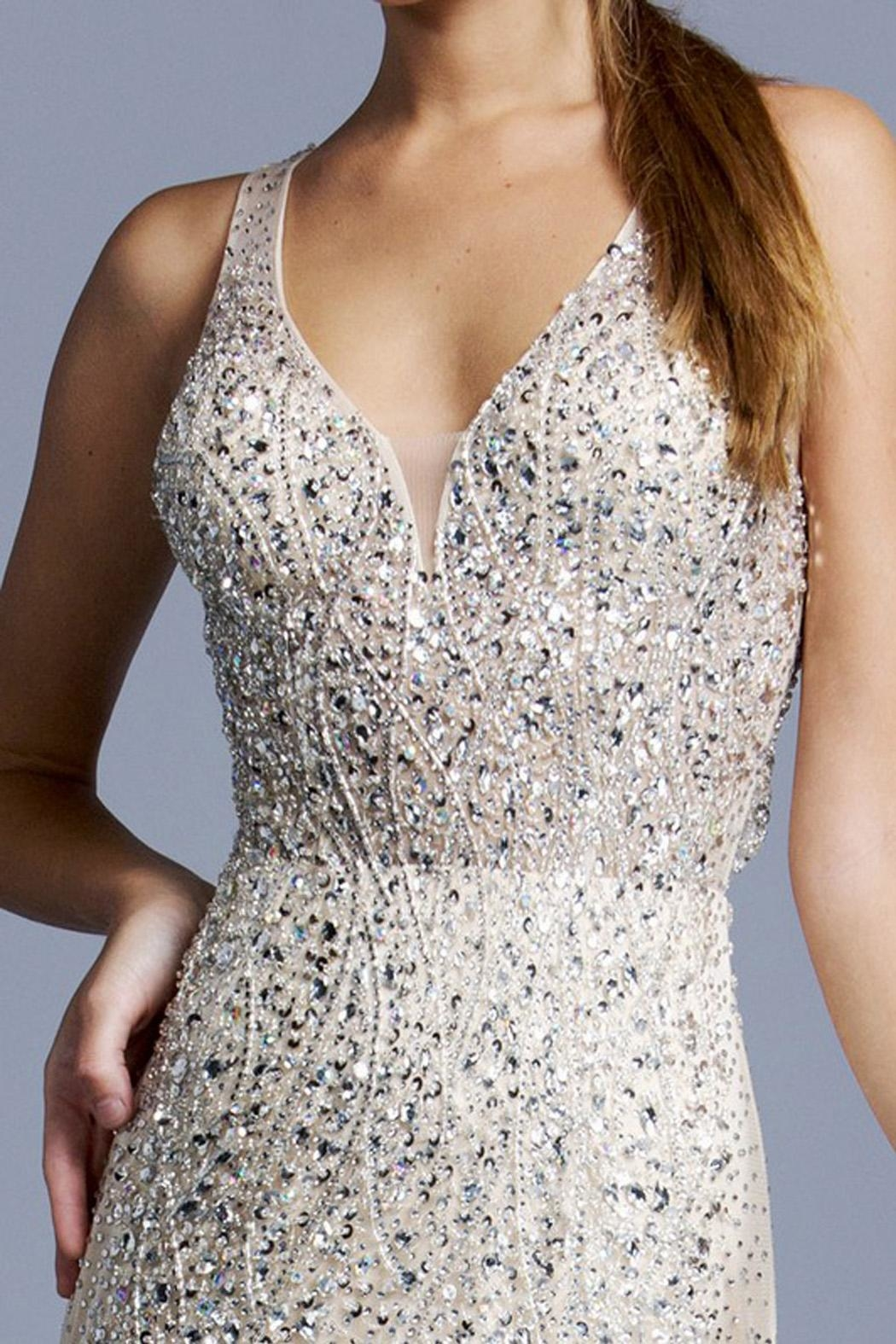 ASPEED DESIGN Crossback Sequin Promdress - Side Cropped Image