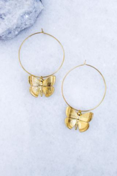 Shoptiques Product: Aspire Butterfly Hoop
