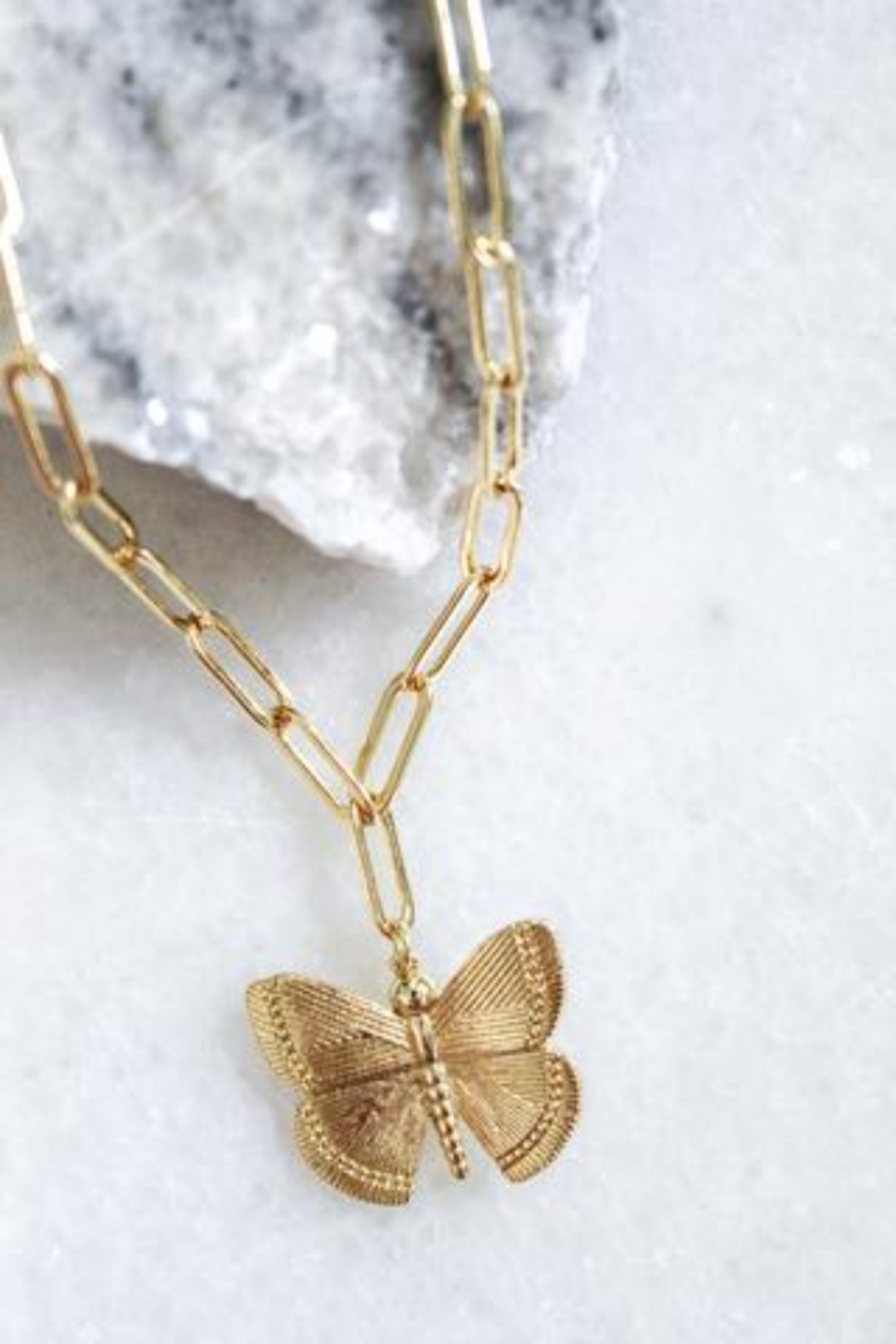 Kinsey Designs Aspire Butterfly Necklace - Front Full Image