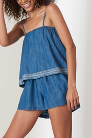 Patrons of Peace Aspyn Denim Romper - Product Mini Image