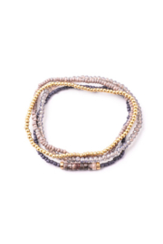 Anarchy Street Assorted Beaded Bracelets Set - Front cropped