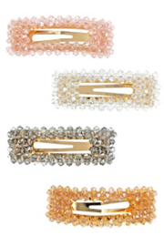 Lyn -Maree's Assorted Beaded Hair Clip - Front cropped