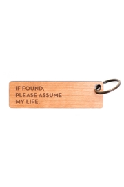 Sapling Press Assume Life Keychain - Product Mini Image