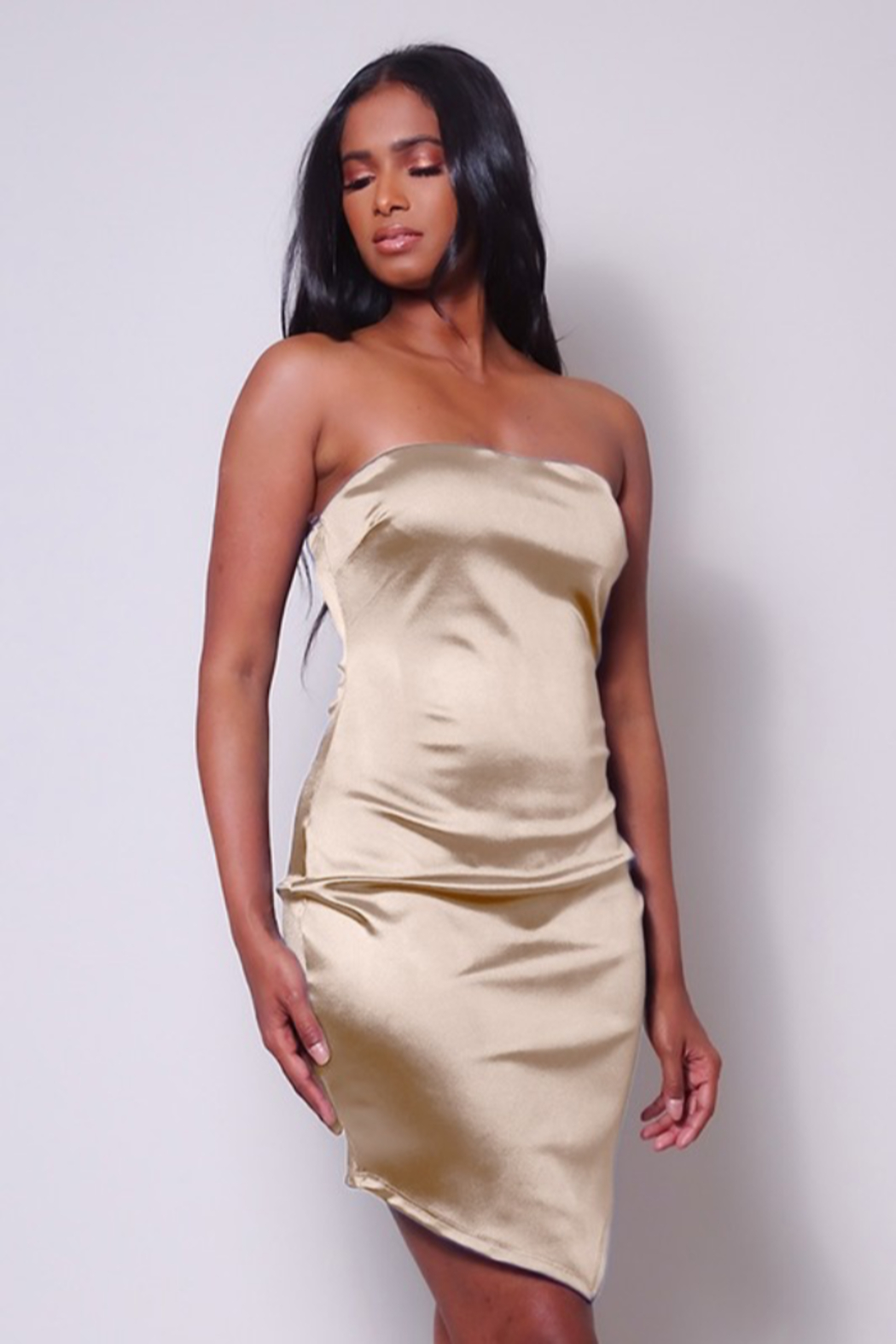 Cefian  Assymetrical Satin Mini - Front Cropped Image