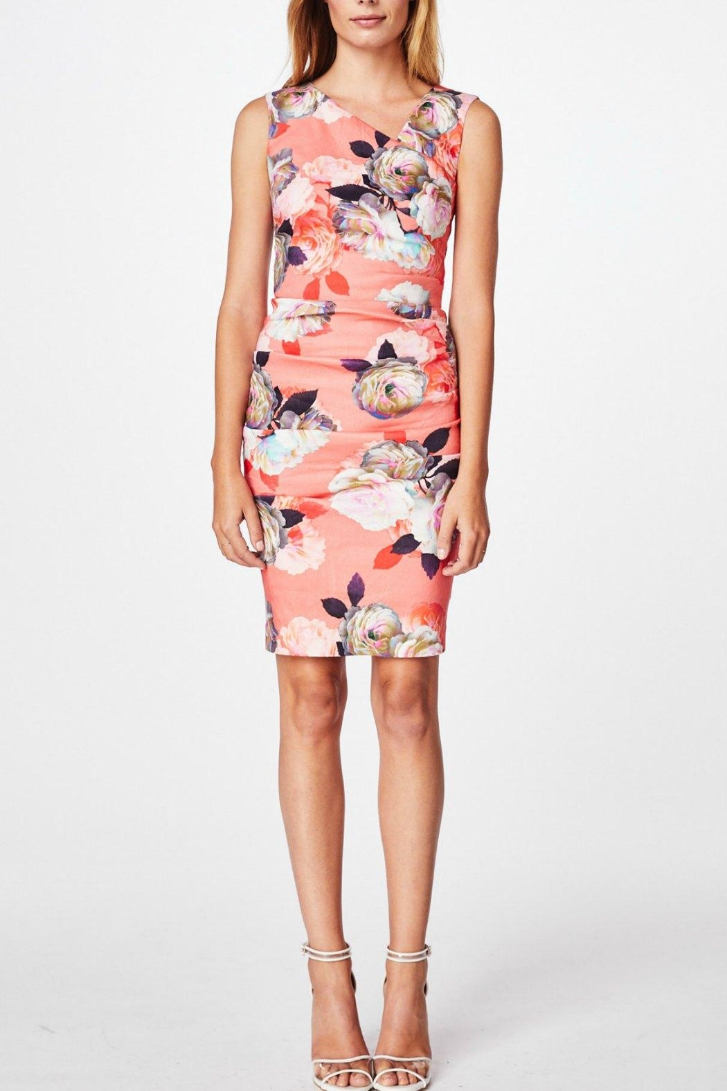 Nicole Miller Assymmetrical Tuck Dress - Front Cropped Image