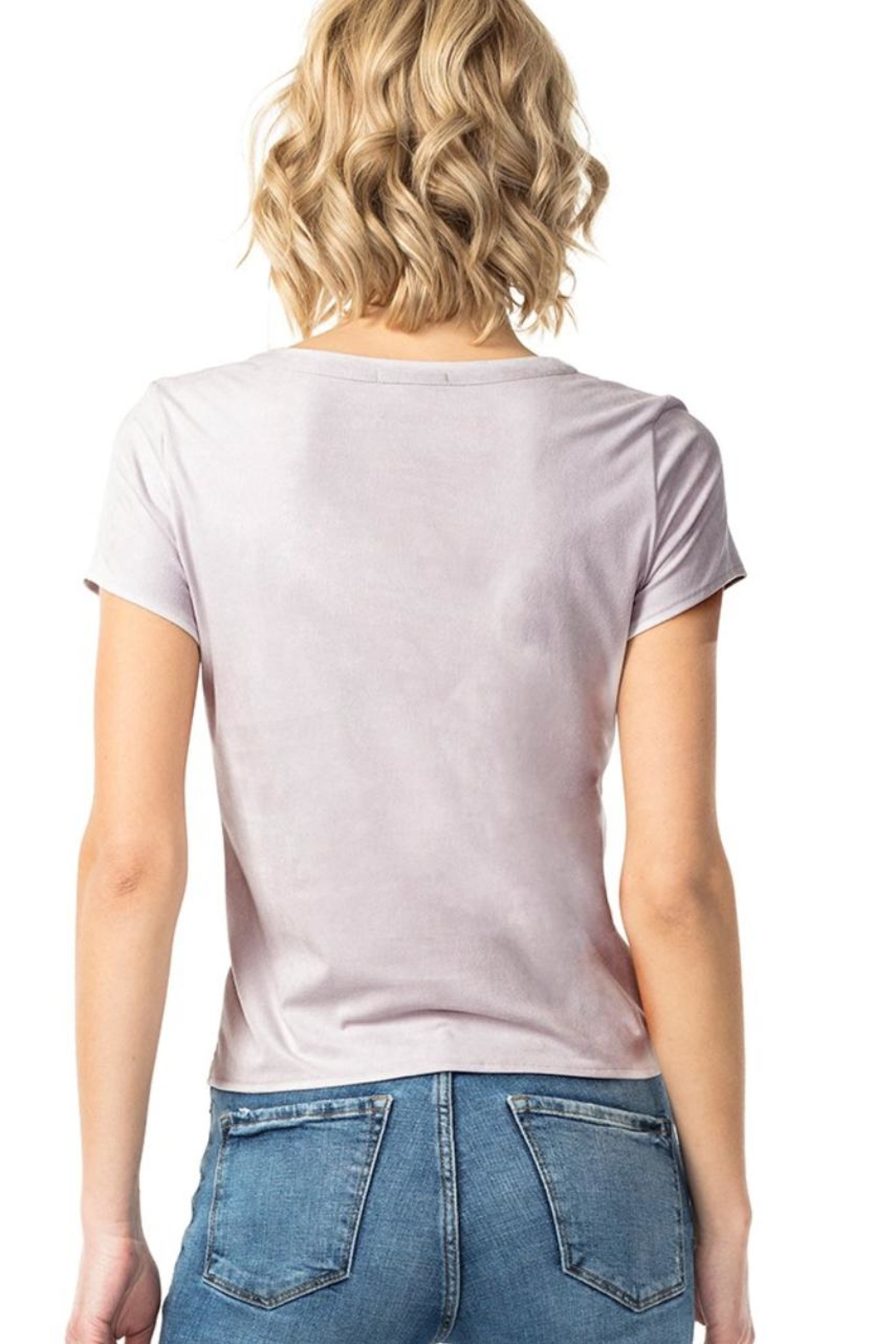 Astars Angeleno Suede Tee - Side Cropped Image