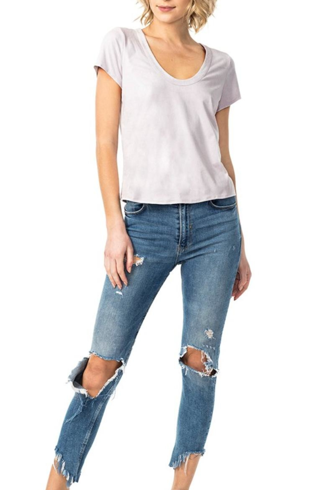 Astars Angeleno Suede Tee - Front Full Image