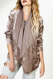 Astars Cascade Velvet-Drape Jacket - Product Mini Image