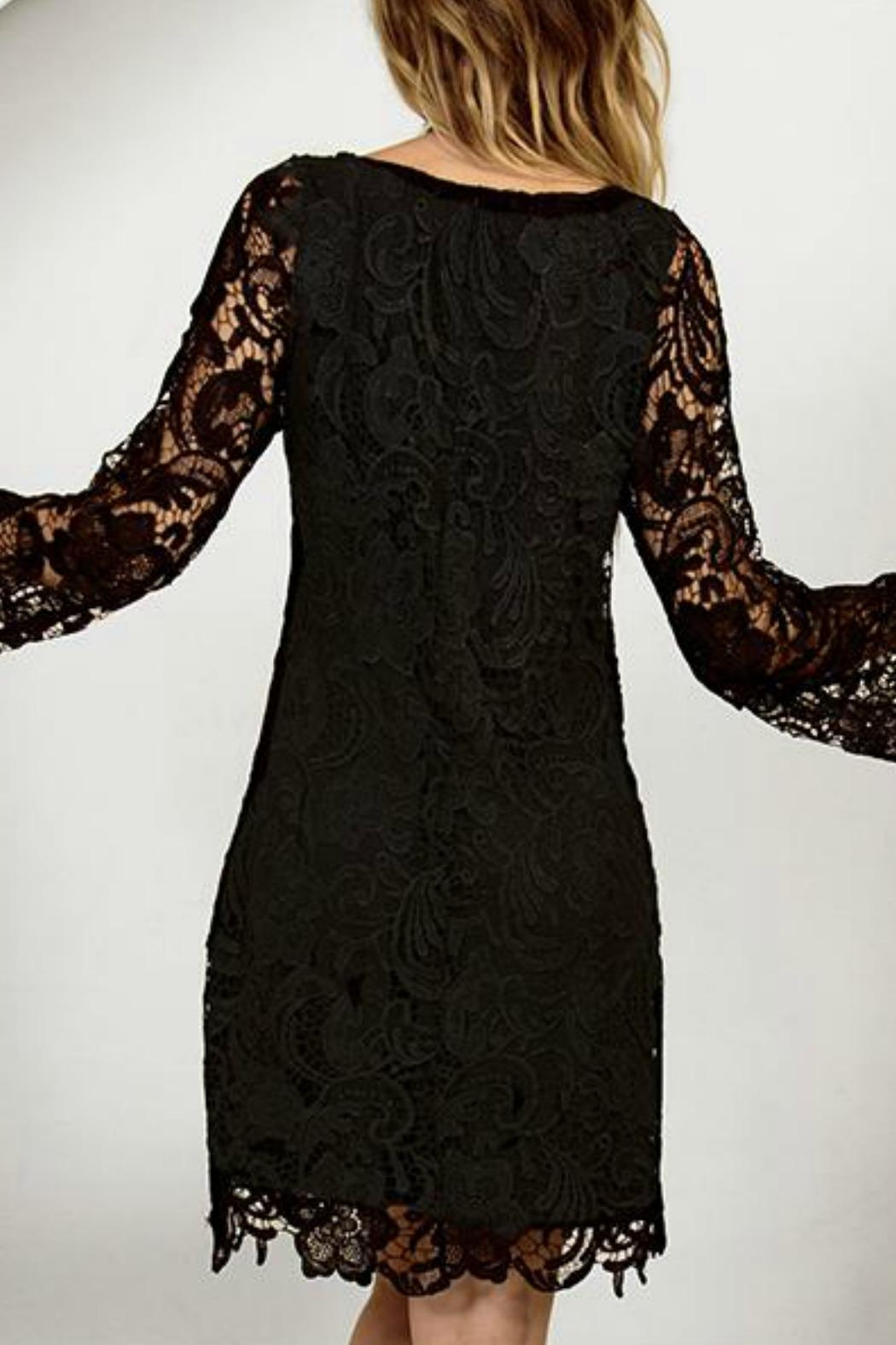 Astars Lace Crochet Shift-Dress - Front Full Image